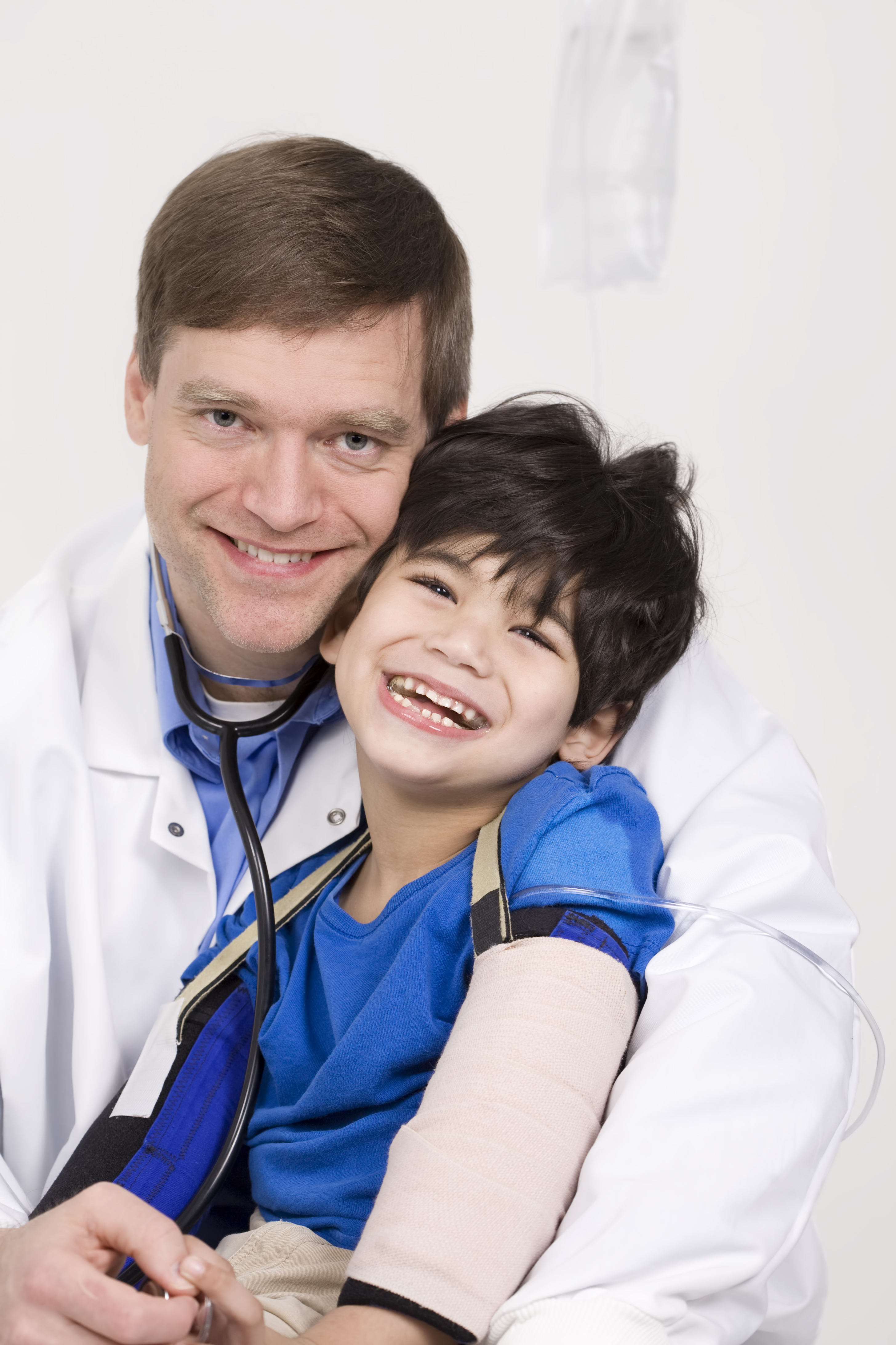 Doctor with handicap child